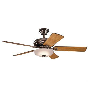 "Kichler Bentzen Select 52"" LED Ceiling Fan in Oil Brushed Bronze"