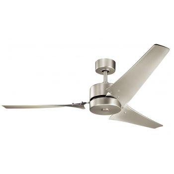 """Kichler Motu 60"""" Ceiling Fan in Brushed Nickel"""