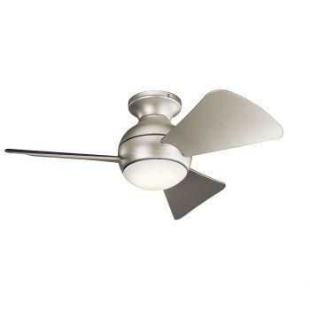 "Kichler Sola 34"" LED Ceiling Fan in Brushed Nickel"