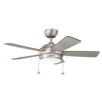 """Kichler Starkk 42"""" LED Ceiling Fan in Brushed Nickel"""