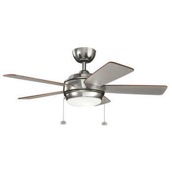 """Kichler Starkk 42"""" LED Ceiling Fan in Polished Nickel"""
