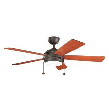 """Kichler Starkk 52"""" LED Ceiling Fan in Olde Bronze"""