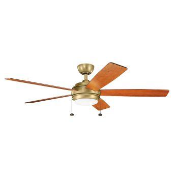 """Kichler Starkk 60"""" LED Ceiling Fan in Natural Brass"""