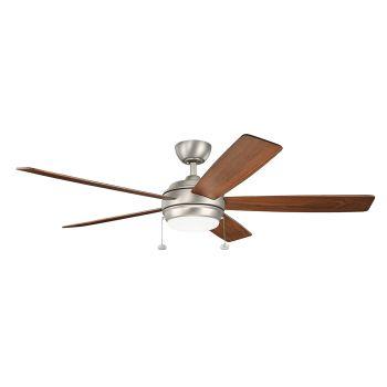 """Kichler Starkk 60"""" LED Ceiling Fan in Brushed Nickel"""