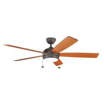 """Kichler Starkk 60"""" LED Ceiling Fan in Olde Bronze"""