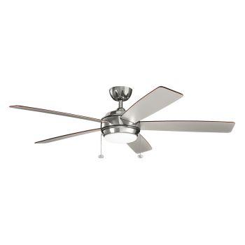 """Kichler Starkk 60"""" LED Ceiling Fan in Polished Nickel"""