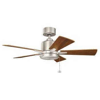"""Kichler Bowen 42"""" Ceiling Fan in Brushed Nickel"""