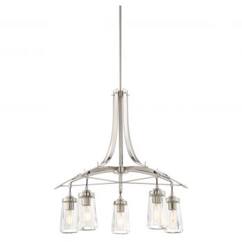 "Minka Lavery Poleis 5-Light 27"" Transitional Chandelier in Brushed Nickel"