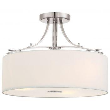 "Minka Lavery Poleis 3-Light 17"" Ceiling Light in Brushed Nickel"
