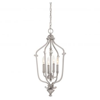 "Minka Lavery Savannah Row 4-Light 13"" Pendant Light in Brushed Nickel"