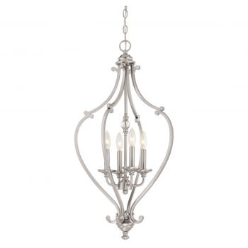 "Minka Lavery Savannah Row 4-Light 17"" Pendant Light in Brushed Nickel"