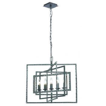 Crystorama Capri 5-Light Chandelier in Gray