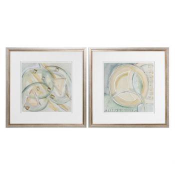 Uttermost Abstracts Prints in Champagne Frame (Set of 2)