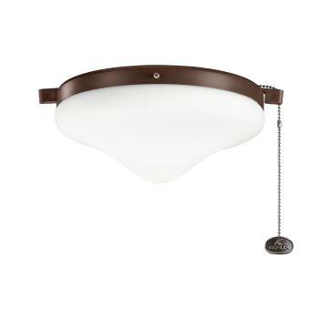 Kichler Signature 2-Light Fan Light-Kit in Coffee Mocha