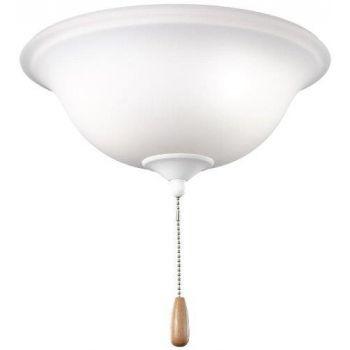 Kichler 3-Light Bowl Ceiling Fan Light Kit in Citrine Glass