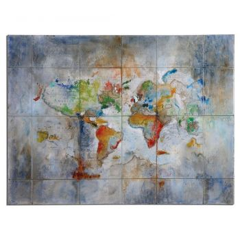 "Uttermost World Of Color 48"" Canvas Modern Art in High Gloss"