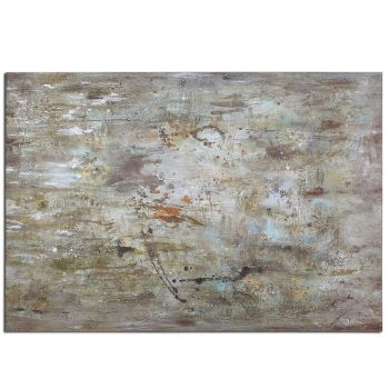 "Uttermost Middle 70"" Hand Painted Abstract Art"