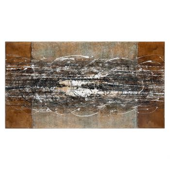 "Uttermost Frantic 70"" Hand Painted Canvas Abstract Art"