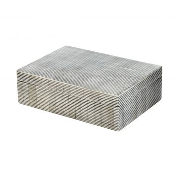 ELK Pin Stripe Bone Box - Large in Grey
