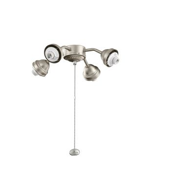 Kichler Accessories 4 Light Bent Arm Ceiling Fan Fitter in Brushed Nickel