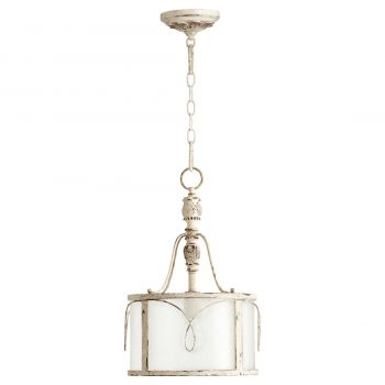 "Quorum Salento 11.5"" Pendant in Persian White"