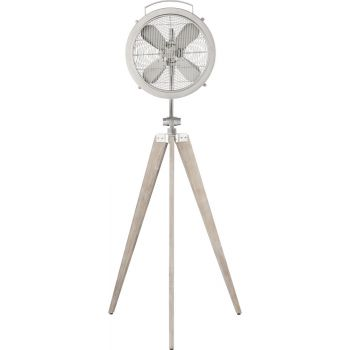 Quorum International Mariana Floor Fan in Satin Nickel