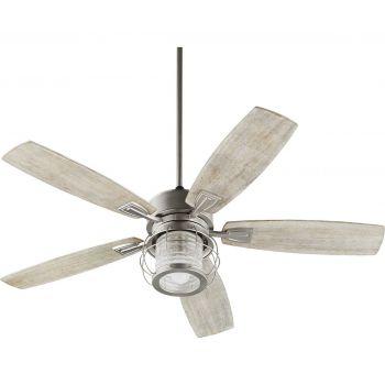 """Quorum Galveston 52"""" 5-Blade Indoor Ceiling Fan in Satin Nickel"""