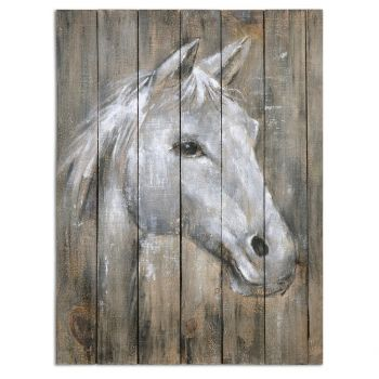 "Uttermost Dreamhorse 32"" Horse Art in Barn Wood"