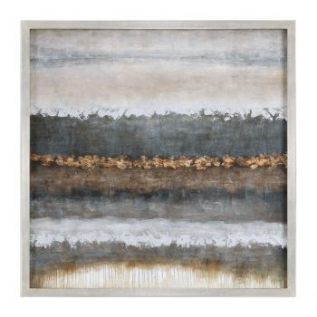 "Uttermost Layers 50"" Landscape Art in Silver Champagne Frame"