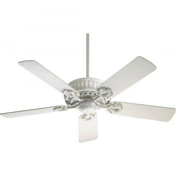 """Quorum Empress 52"""" 5-Blade Indoor Ceiling Fan in Studio White"""