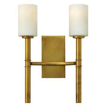 Hinkley Margeaux 2-Light Sconce in Vintage Brass