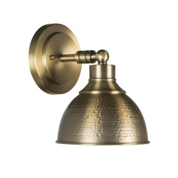 "Craftmade Timarron 7.5"" Hammered Metal Wall Sconce in Legacy Brass"