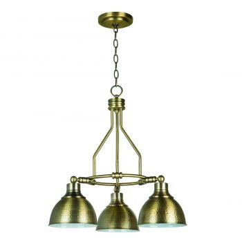 Craftmade Timarron 3-Light Down Chandelier in Legacy Brass