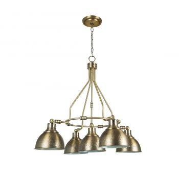 Craftmade Timarron 5-Light Down Chandelier in Legacy Brass