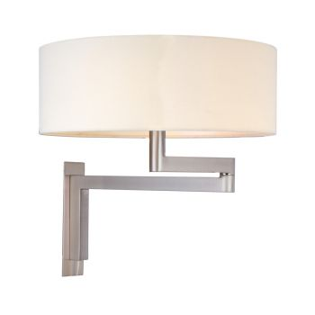 "Sonneman Osso 2-Light 14"" Pinup Wall Lamp in Nickel Finish"