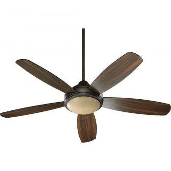 """Quorum Colton 52"""" 3-Light Indoor Ceiling Fan in Oiled Bronze"""