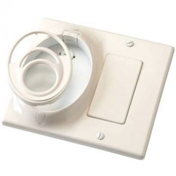 Kichler Fan Accessory Dual Gang CoolTouch Wall Plate in Ivory (Not Painted)