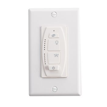 Kichler Fan Accessory 6 Speed DC Wall Transmitter in White Material (Not Painted)