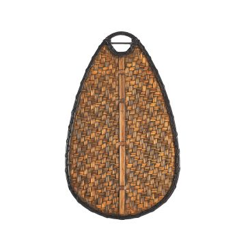 "Kichler Klever 52"" Oval Bamboo Blade Set in Brown"