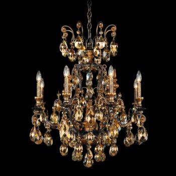 """Schonbek Renaissance 26.5"""" 9-Light Chandelier in Heirloom Bronze"""