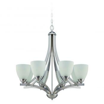 Craftmade Almeda 8-Light Chandelier in Satin Nickel