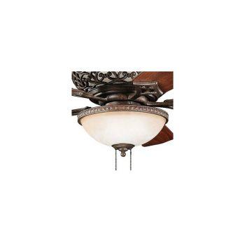 Kichler Cortez 3-Light Bowl Fan Light Kit in Tannery Bronze