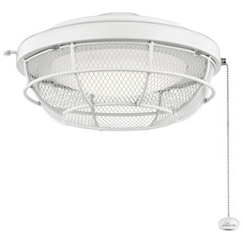 Kichler LED Industrial Mesh Light Kit in Matte White