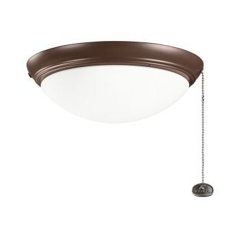 Kichler Accessory 2-Light Fan Light-Kit in Coffee Mocha