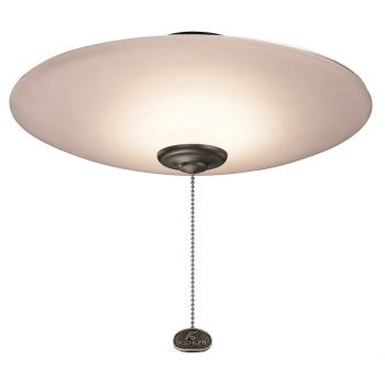 "Kichler 13"" Low Profile Umber Etched Bowl LED Light Kit in Multiple"