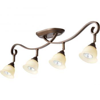 """Quorum International Celesta 4-Light 4"""" Track Lighting in Oiled Bronze"""