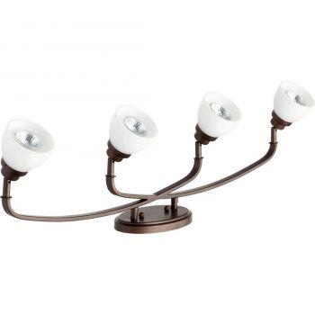 """Quorum International Reyes 4-Light 5"""" Track Lighting in Oiled Bronze"""