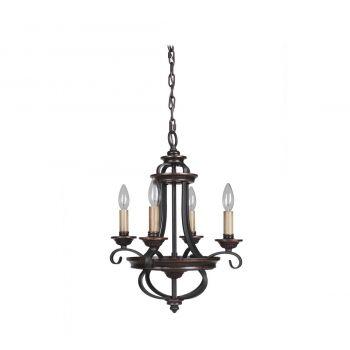Craftmade Stafford 4-Light Chandelier in Aged Bronze/Textured Black