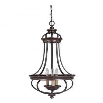 Craftmade Stafford 3-Light Foyer Light in Aged Bronze/Textured Black