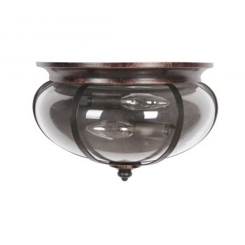 Craftmade Stafford 2-Light Wall Sconce in Aged Bronze/Textured Black